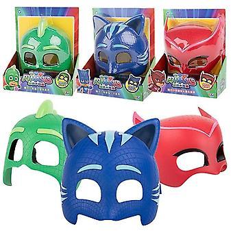 Pj Mask Three Different Color Masks Doll Model Masks Catboy Owlette Gekko Figures Anime