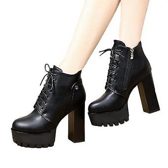 Nieuwe Martens Laarzen Met Platform Hakken Voor Dames