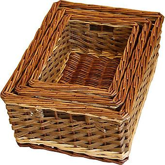 Set van 3 Bamford Wicker portie-Trays