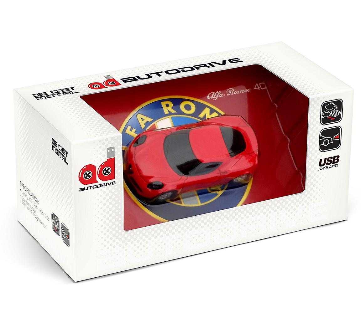 Official Alfa Romeo 4C Sports Car USB Memory Stick 16Gb - Red