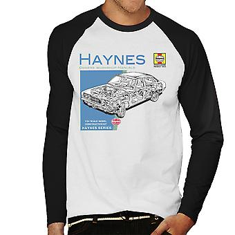 Haynes Owners Workshop Manual 0295 MK2 Ford Cortina Men's Baseball Long Sleeved T-Shirt