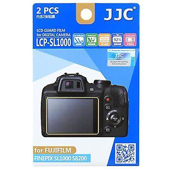 JJC Guard Film Crystal Clear Displayschutzfolie für Fujifilm FinePix SL1000, S8200 - kein Schneiden (2 Film-Pack)