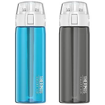 الترمس 24 أوقية. متصل ترطيب زجاجة ماء الرياضة النشطة مع غطاء الذكية