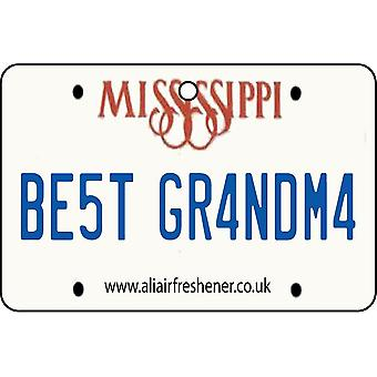 Mississippi - Best Grandma License Plate Car Air Freshener