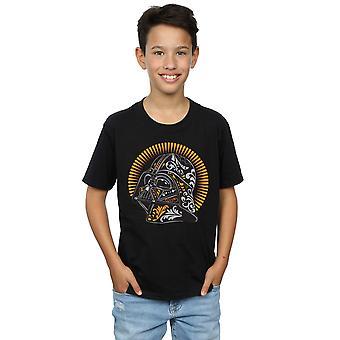 Star Wars jungen Darth Vader Dia De Los Muertos T-Shirt