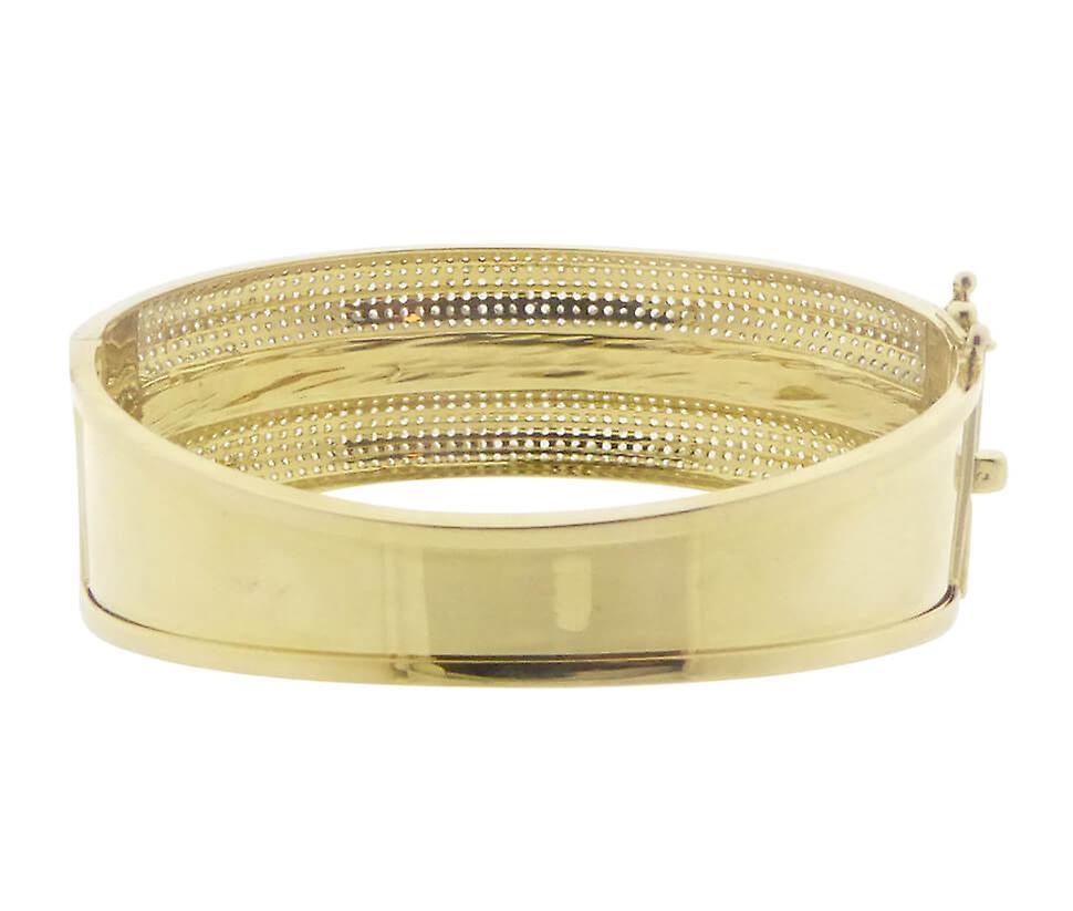 Christian 14 Karat yellow gold bracelet with cubic zirconia