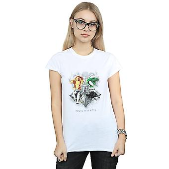 Harry Potter Women's Hogwarts Boyalı Crest T-Shirt
