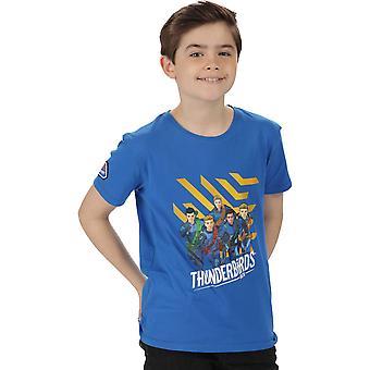 雷加塔男孩热罩酷织棉图形步行T恤