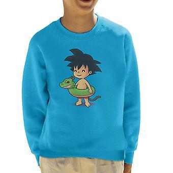 Dragon Ball Z schattig strand Goku Kid's Sweatshirt