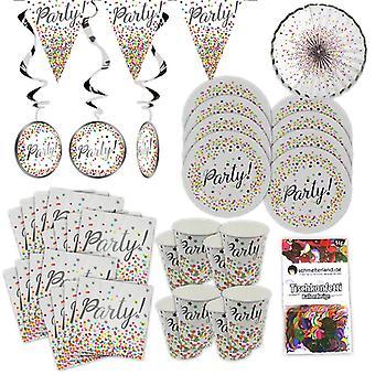 Confete festa caixa 38 peças decoração KONFETTI festa festa pacote de design