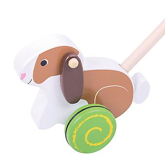 Bigjigs Toys Wooden Rabbit Push Along Walker Walking Toy Mobility Learn