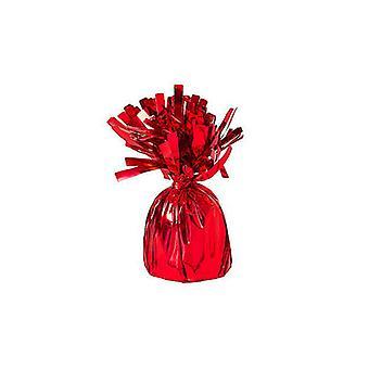 Ballong vikt folie insvept röd