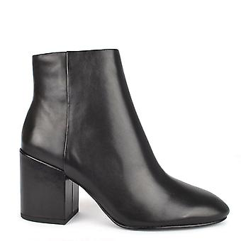 Ash Footwear Eden Black Leather Ankle Boot