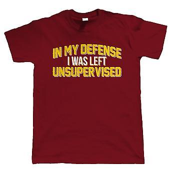 In mijn verdediging, Mens grappig T Shirt