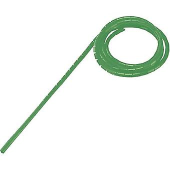 Conrad Components WB-1012 Spiral tube 9 up to 65 mm Green 5 m