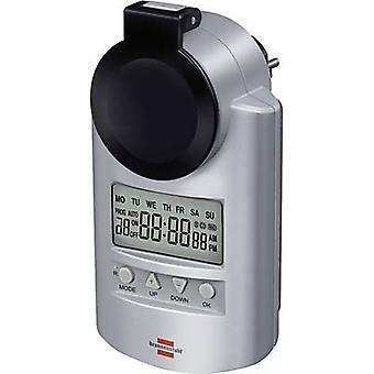 Brennenstuhl 1507490 Temporizador/tira de alimentación digital Modo 7 días 23 h/59 min 3680 W IP44 Modo de cuenta atrás, modo RND