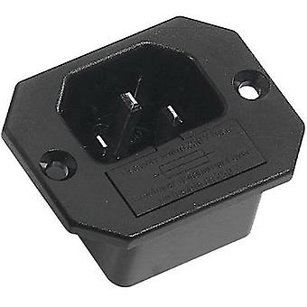 K & B 42R321121 IEC connector 42R Series (mains connectors) 42R Plug, vertical mount Total number of pins: 2 + PE 10 A Black 1 pc(s)