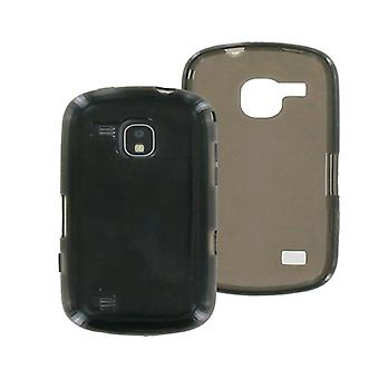 OEM Verizon Samsung Continuum SCH-I400 Caja de silicona de alto brillo (negro) (embalaje a granel)