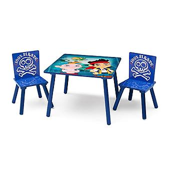 Disney Jake and the pirate Set table and 2 chairs wood