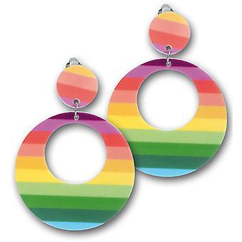 80er Jahre Ohrringe neon Hippie Ohrclip