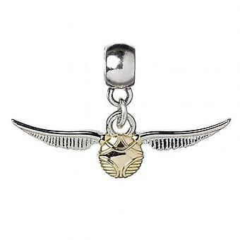 Harry Potter Silver Plated Charm Golden Snitch