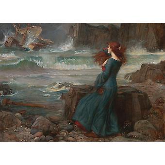 Miranda-The Tempest, John William Waterhouse, 60x40cm