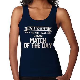 Figyelmeztetés május Start beszélünk meccs a nap nők ' s Vest