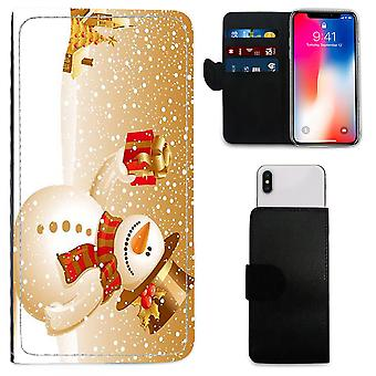 CHRISTMAS Printed PU Leather Wallet Case for Apple iPhone 5s - 092 by i-Tronixs
