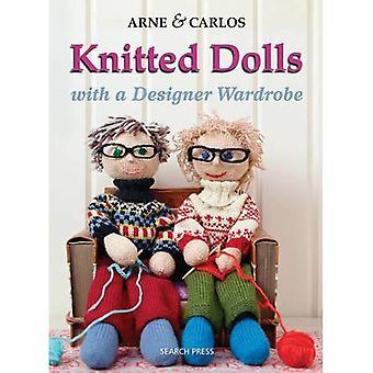 Neulottu nuket: Käsintehtyjä leluja Design-vaatekaappi Knitting hauskaa meille kaikille lapselle