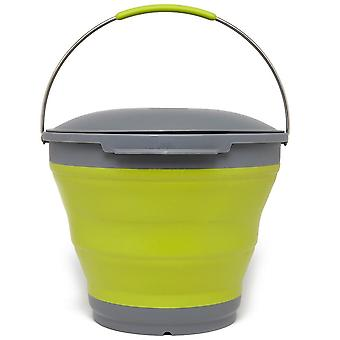 New Outwell Camping Furniture Storage Collapsible Bucket And Lid Green