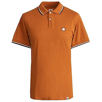 PRETTY GREEN Orange Tipped Pique Polo Chemise