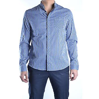 Balmain Ezbc005005 Men's Blue Cotton Shirt