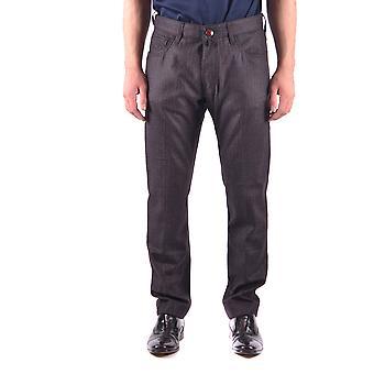 Jacob Cohen Ezbc054059 Hombres's Pantalones de Lana Gris