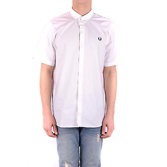 Fred Perry Ezbc094038 Men's White Cotton Shirt