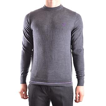 Fred Perry Ezbc094014 Men's Grey Wool Sweater