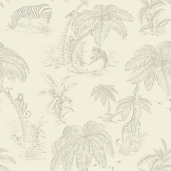 Natural Palma Sola Wallpaper Jungle Tropical Safari Trees Paste The Wall Holden