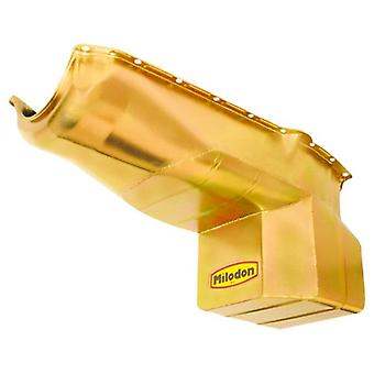Milodon 31080 Steel, Gold Zinc Plated Street and Strip Oil Pan for Chevy S-10