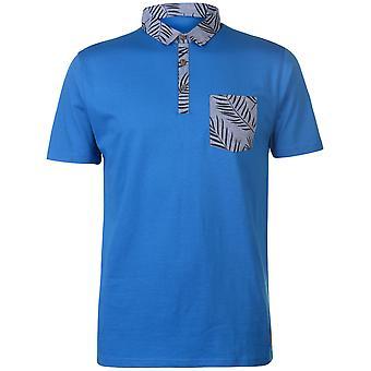 Pierre Cardin miesten painettu tasku Jersey poolo paita T-paita lyhythihainen Top