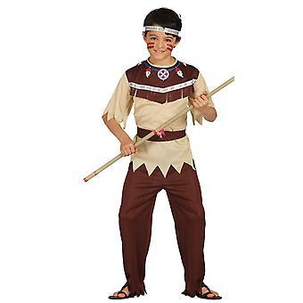 Boys Native American Cherokee Indian Fancy Dress Costume