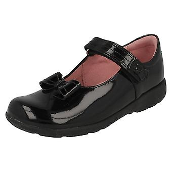 Girls Startrite Flat School Shoes with Bow Vamp Viola