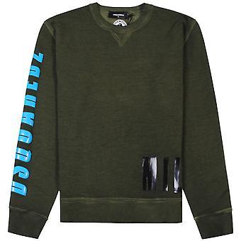 DSquared2 militaire Sweatshirt groen
