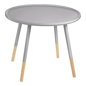 Fusion Living Grey Circular Large Side Table With Beech Tipped Legs