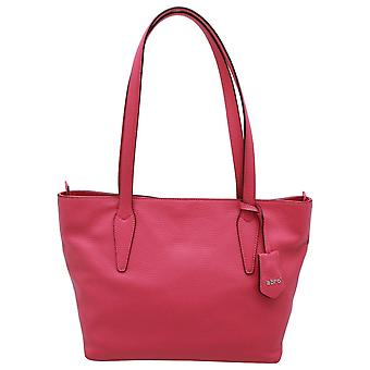Abro Double Handle Leather Tote Handbag