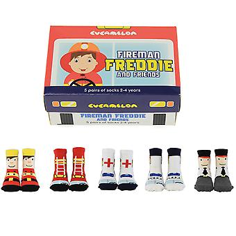 Cucamelon Fireman Freddie And Friends Socks Gift Set 2-4 Ans