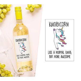 Knobicorn Wein Flasche Label