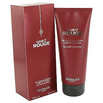 Habit Rouge Hair & Body Shower Gel By Guerlain   464059 200 ml