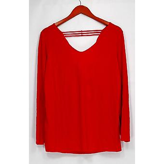 Einstellungen von Renee Top Drape Back Crepe Jersey stricken rot A290737