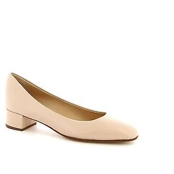 Leonardo Shoes Women's handmade low pumps shoes in powder pink calf leather
