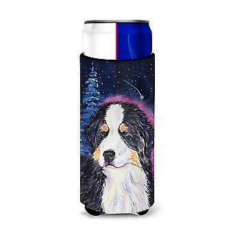Starry Noche Bernesa Perro de Montaña Ultra Aislantes de Bebidas para latas delgadas SS8446