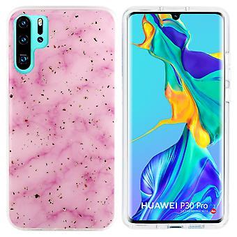 Huawei P30 Pro Case Pink - Marble